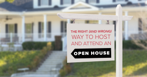host and attend open house